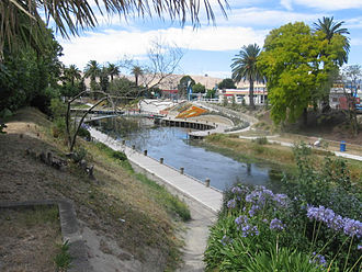 Blenheim, New Zealand - The Taylor River in central Blenheim