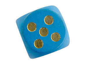 Quincunx - A quincunx of pips on the five-side of a die