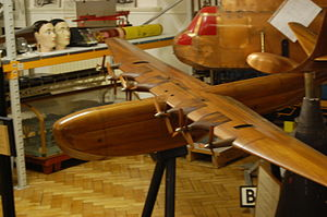 Saunders-Roe Princess - Wooden model of the SR.45 Princess used for wind tunnel testing