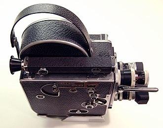 Hand-held camera - Bolex 16 mm camera