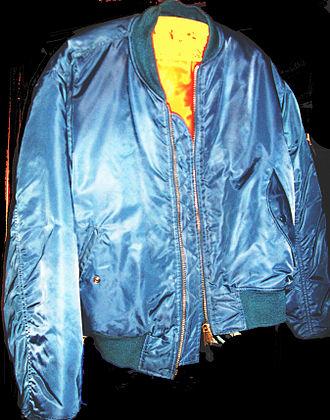 Jacket - Nylon bomber jacket, also in leather