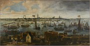 Bonaventura Peeters (I) - View of the Pier of Antwerp from the Vlaams Hoofd