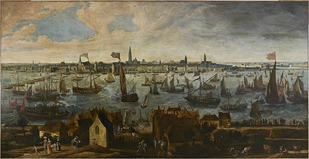 View of the Pier of Antwerp from the Vlaams Hoofd Bonaventura Peeters (I) - View of the Pier of Antwerp from the Vlaams Hoofd.jpg