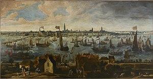 Bonaventura Peeters (I) - View of the Pier of Antwerp from the Vlaams Hoofd