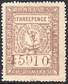 Bonelli's Electric Telegraph Company Limited 3d stamp c. 1862.jpg