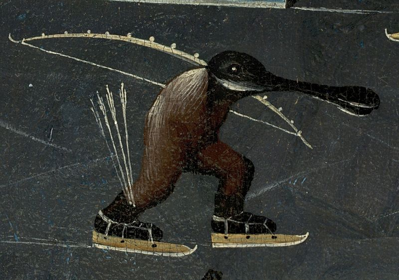 File Bosch Hieronymus The Garden Of Earthly Delights Right Panel Detail Skating Monster