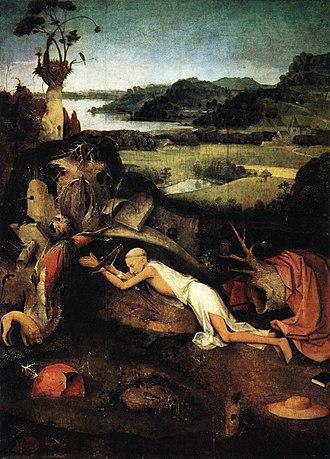 1505 in art - Image: Bosch St Jerome In Prayer