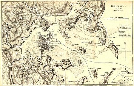 1776 map of boston Siege Of Boston Wikipedia 1776 map of boston