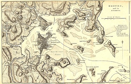 map of boston area 1776 Siege Of Boston Wikipedia map of boston area 1776