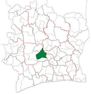 Bouaflé Department - Image: Bouaflé Department locator map Côte d'Ivoire
