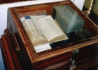 <i>Bounty</i> Bible bible thought to have been used on the HMS Bounty