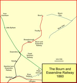 Bourn and Essendine Railway Former railway in England