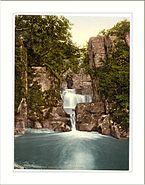 Bracklinn Falls and bridge Callander Scotland