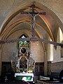 Brandshagen, Nordvorpommern, Dorfkirche, Altar und Hochkreuz (2008-07-29).JPG
