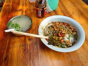 Hainan cuisine - Image: Breakfast noodles in Haikou 01