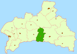 Location of Ivanavas rajons