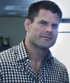Brian Stann American Marine, mixed martial arts fighter and color commentator