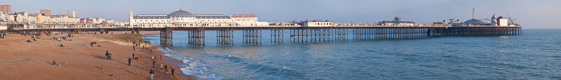 Brighton Pier stretches half a kilometre into the sea.