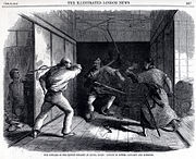 Attack of the British legation in Edo, 1861.