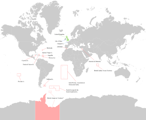 map showing how far away many overseas territories are from the uk click image to see enlargements