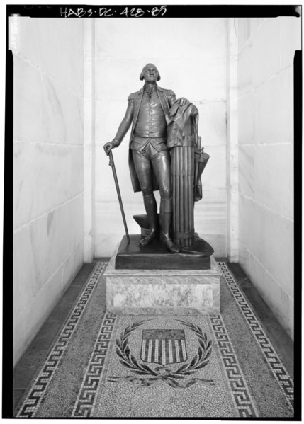 File:Bronze statue of Washington - Washington Monument, High ground West of Fifteenth Street, Northwest, between Independence and Constitution Avenues, Washington, District of Columbia, HABS DC,WASH,2-85.tif