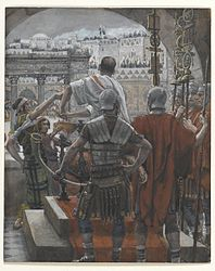 James Tissot: Pilate Washes His Hands