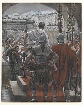 Jewish deicide - Pilate Washes His Hands by James Tissot – Brooklyn Museum