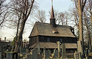 Broumov - Church of the Virgin Mary — an old wooden church