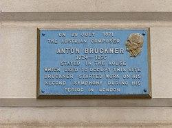 Photo of Anton Bruckner blue plaque