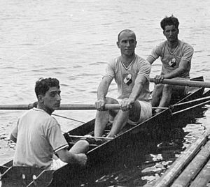André Giriat - Brunet, Giriat and Brusa at the 1931 European Championships