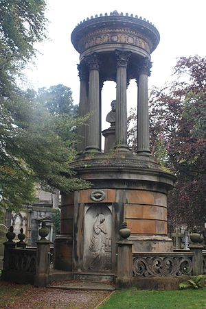 Dean Cemetery - The huge Buchanan Memorial, Dean Cemetery