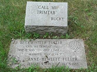 Trim tab - Grave of Buckminster Fuller