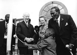 Uhuru Kenyatta - Uhuru with his father and the West German President Heinrich Lübke.