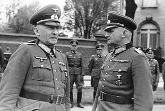 Curt Haase - Erwin von Witzleben (left) and Curt Haase.