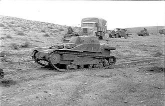 Western Desert Campaign - Image: Bundesarchiv Bild 101I 783 0107 27, Nordafrika, italienischer Panzer L3 33