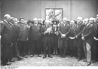 Prussian Academy of Arts - Image: Bundesarchiv Bild 146 1998 029 9, Berlin, Ad K Ausstellung, Max Liebermann, Pierre de Margerie