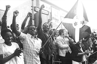 Michel Micombero - Burundian delegates at the Soviet-sponsored 1973 World Festival of Youth and Students in East Germany. Micombero managed to navigate between communist and Western powers during the Cold War.