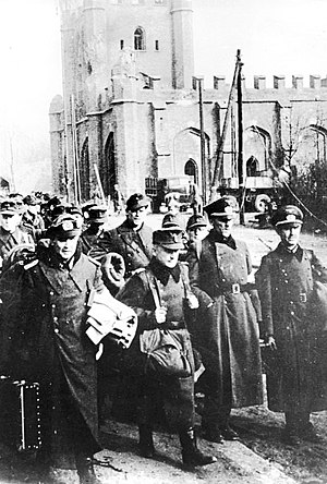 Battle of Königsberg - German POWs in front of the King's Gate