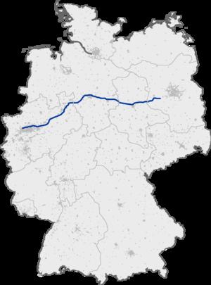Bundesautobahn 2 - Image: Bundesautobahn 2 map