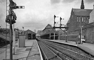 Bury Bolton Street railway station - The station in 1963