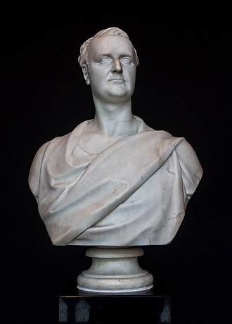 Redmond Barry - Bust of Barry at the State Library of Victoria (Charles Summers, 1860)