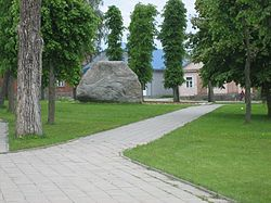 Central square in Butrimonys
