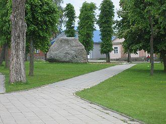Butrimonys - Central square in Butrimonys