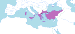 The Byzantine Empire in 802 AD.