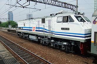 GE U20C - The CC203 35 locomotive, special for New Argo Jati train.