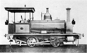 CGR 1st Class 0-4-0ST 1876 - CGR 1st Class 0-4-0ST of 1876