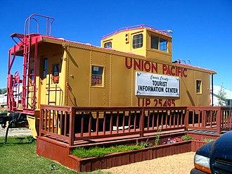 Fairfield, Idaho - Visitor caboose in Fairfield