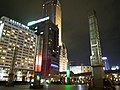 Caesar Park Taipei, Asia Plaza Building and Shin Kong Life Tower 20121114 night.jpg