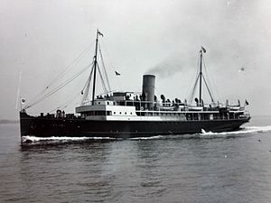 TSS Manx Maid (1910) - Caesarea pictured in the service of the London and Southwestern Railway Company.