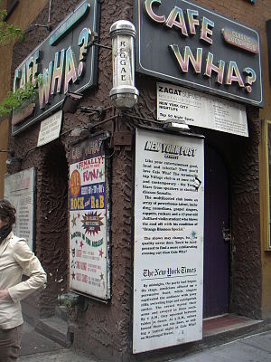 Cafe Wha? - Cafe Wha? at the corner of MacDougal Street and Minetta Lane.